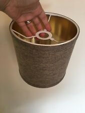 Brown Hessian Gold Lining Drum Lampshade Ceiling Light / Lamp Shade NEW