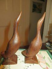 2 vintage wood carved folk art possibly Cherokee birds Geese Goose