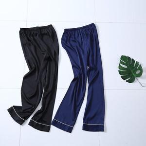 Men's Classic Satin Pajama Sleepwear Pyjamas Pants Sleep Bottoms Plus size