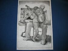* Tri Chem 8327 Young Strummer Negro Boy And Grandpa Picture to paint Trichem