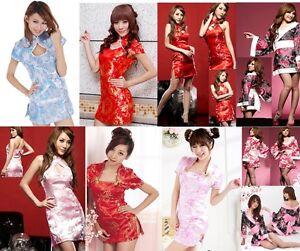 CHINESE JAPANESE GEISHA BLOUSE CHEONGSAM GOWN DRESS TOP FANCY DRESS SAMURI