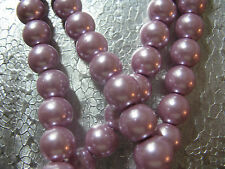 40 Glass Pearl Beads 8mm Jewelry Beads Pearl Lavender Round Spacer  Beads