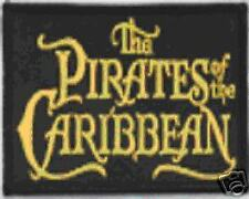 Pirates Of The Carribean Patch - Gold On Black