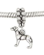 Sterling Silver Dangle Small Puppy Great Dane Dog European Bead