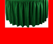 21' RED PREMIUM FLAME RETARDANT TABLE SKIRTS - FIRE RESISTANT TABLE SKIRTING