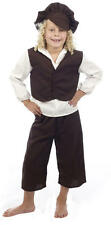 Kids Victorian Boy Oliver Twist Historical Fancy Dress Costume Age 7 - 9 P7353