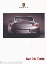 Porsche 911 Turbo Prospekt 1999 8/99 Autoprospekt brochure prospectus catalog