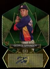 2014 George Springer Topps Supreme Styling Green Auto Autograph 24/45 Astros RC