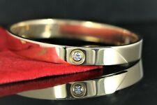 Rare Estate Vintage Cartier 18K Yellow Gold Diamond Bangle Love Bracelet #16
