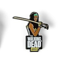 The Walking Dead Official Licensed AMC TV Show Enamel Pin Michonne Katanna Sword