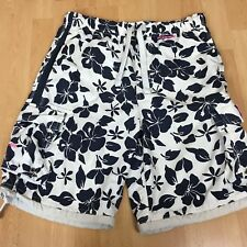 Abercrombie And Fitch Tugger Beach Shorts Floral Flower Design Size Large Mens