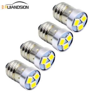 Ruiandsion 10pcs E10 Base LED Upgrade Bulb 2W COB 12V White LED Bulb Replacement for Flashlights Torch LED Conversion Kit,Negative Earth