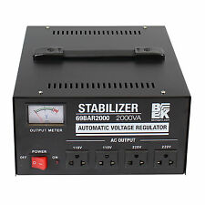 2000W  Automatic Voltage Regulator / Stabilizer Grounded Outlets 110V-220V