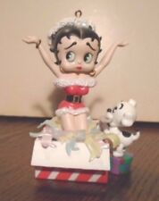 "GORGEOUS BETTY BOOP CHRISTMAS SOUND & BATTERY ""BOOP-OOP-A-DOOP"" ORNAMENT, WORKS"