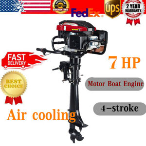 HANGKAI 4Stroke 7HP Outboard Motor 196CC Fishing Boat Engine w/Air Cooling Syste