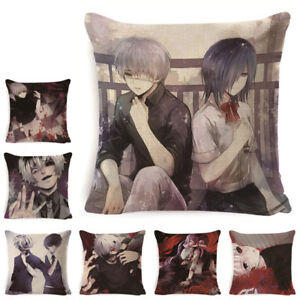 Japanese Anime Tokyo Ghoul Cushion Cover Home Decor Pillow Case Cartoon Series