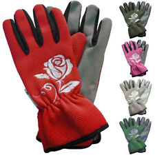 Hansons Safety Work Gloves Women Hand Protection Garden Flower Rose Padded Faux