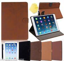iPad Air 2/iPad 6 Custodia Protettiva+ film Borsa Ecopelle Smart Cover Case 4-F
