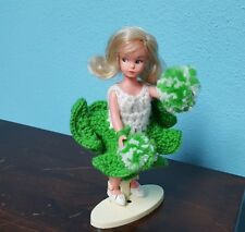 """Vintage Tammy Doll By Ideal With Stand & Cheerleading Outfit 8"""" *"""