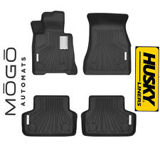 Husky Liners MOGO Luxury Black Front & Rear Floor Liners 17 BMW 535i GT xDrive
