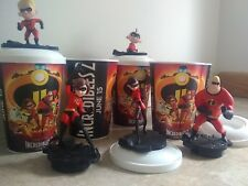 Disney Incredibles 2 Theater Exclusive Cups with Toppers - Set of 5