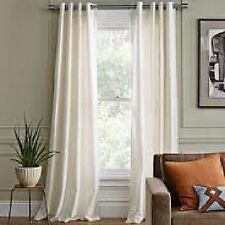 2 PANELS GROMMET FAUX SILK WINDOW CURTAINS DRAPE TREATMENT MIRA 84""
