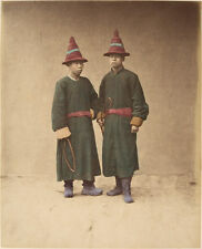 Chinese Men Traditional Costume Stillfried 1870 7x5 Inch Reprint Photo