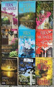 SISTERHOOD FERN MICHAELS FICTION BOOK LOT 9 PAPERBACK NOVELS FREE SHIPPING