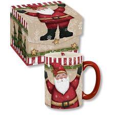 Carson Homes Coffee Mug Cup Jolly Santa Ho Ho Ho 14 oz Ceramic in Decorative Box