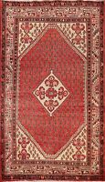 Vintage Traditional Paisley Botemir Area Rug Hand-Knotted Wool Carpet 4x7 Foyer
