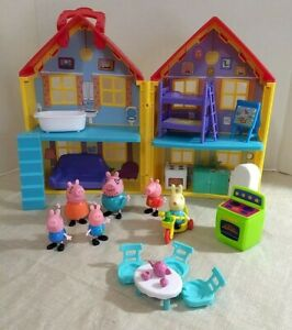 Peppa Pig House, Figures and Accessories Lot