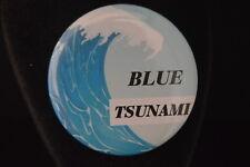"Lot of 3 ""Blue Tsunami"" Buttons pins pinbacks 2 1/4"" Democrat Vote Anti-Trump"