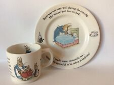 Wedgwood Peter Rabbit Child's Plate And Cup Set Baby