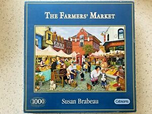 """Gibsons 1000 pc Jigsaw Puzzle - """"The Farmers' Market"""" by Susan Brabeau"""