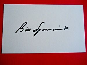 """Bill Spanswick - Autographed 3"""" X 5"""" Index Card - Boston Red Sox - pitcher"""