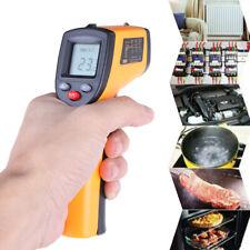 Sin contacto LCD IR Infrarrojo Digital Temperatura Termómetro Pistola Pirómetro