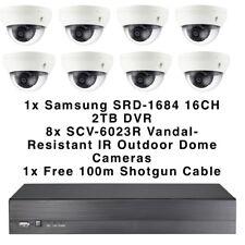 SAMSUNG SRD-1684 2TB 16CH DVR & 8x SCV-6023R VANDAL resistente per esterni CCTV Dome