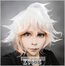 Anime Dangan-Ronpa Komaeda Nagito Short Gradient Color Cosplay Costume wig