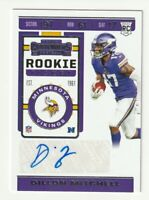2019 Panini Contenders Rookie Ticket AUTO RC Dillon Mitchell Vikings #257