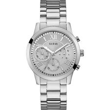 Guess Solar Silver Dial Stainless Steel Men's Watch W1070L1