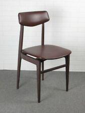 Vintage Chair Design Modernist Years' 50 in Wood Colour Brown