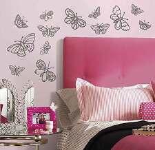 RoomMates Wandsticker Glitzer Schmetterlinge Wandtattoo selbstklebend ablösbar