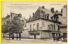 cpa 75 - PARIS QUAI de la TOURNELLE Rue des BERNARDINS Platrerie CARBONNEL Café