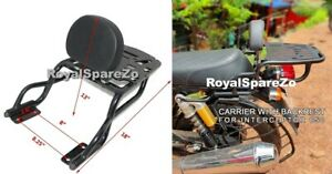 Pillion Cushion Backrest with Carrier For Royal Enfield Interceptor 650 & GT 650