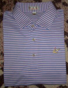 PETER MILLAR SUMMER COMFORT Polo Shirt CAVES VALLEY GOLF CLUB L Striped TOP 100