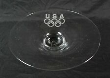 Rare Vintage Glass Bowl With Olympic Rings Logo