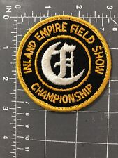 Vintage Inland Empire Field Show Championship Patch IEFSC Track & California CA