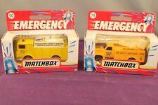 Matchbox Emergency 1990's #50 Mack Auxiliary Power Truck & #74 Utility Truck