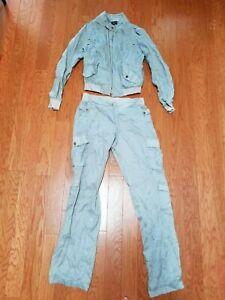 BEBE SPORT GRAY SNAP AND BUTTON WITH ZIP CLOSURE TRACKSUIT SET/OUTFIT SZ XS & S