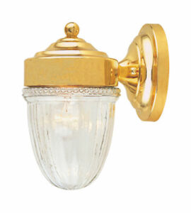 """Savoy House Solid Brass Outdoor Wall Lantern Sconce 12.5""""T x 5.5""""W x 7.1""""D"""
